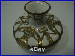 Jugendstil Antique KPM Berlin Porcelain Vase Art Nouveau Overlay
