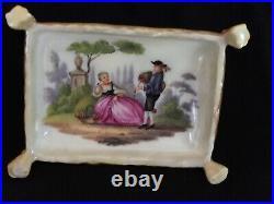 KPM Antique Figurine German Porcelain Angel Box