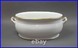 KPM Antique Large Porcelain Gold Gilt Foot Bath Wash Bowl Basin Rare