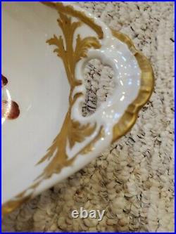 KPM Berlin Art Nouveau Porcelain fruit bowl serving gold trim antique excellent