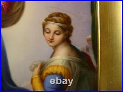 KPM Berlin Plaque Raphael Sistine Madonna Porcelain Virgin Mary Jesus Angels