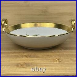 KPM Berlin Porcelain Bowl Nut Candy Dish Birds Gilded Handles Vtg 1960 W KARCZ