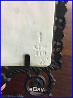 KPM Bisque Porcelain Lithophane Candleholder, withimpressed KPM & Scepter Mark