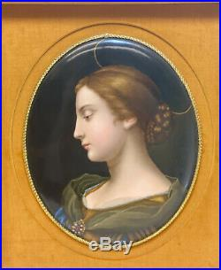 KPM Germany Hand Painted Porcelain Plaque, Beauty with Halo, Late 19th C