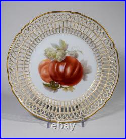 KPM Hand Painted Porcelain Cabinet Plate With Pierced Border