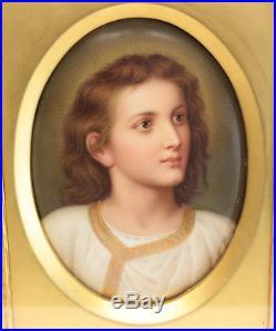 KPM Hand Painted Porcelain Christ Plaque After Heinrich, c1890. Signed Wagner