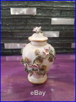KPM PORCELAIN Antique Vase / Urn, encrusted flowers