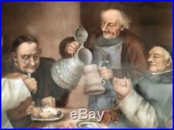 KPM PORCELAIN PLAQUE 12x9 German Berlin monks preparing meal Jewish