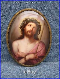 KPM PORCELAIN PLAQUE OF JEZUS in very good condition, 19th century