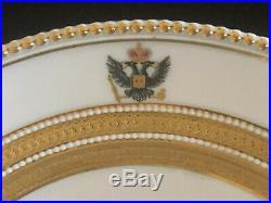 KPM Pair of Porcelain Plates from Nikolas I Russian Imperial Service circa 1835
