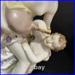 KPM Porcelain Figurine Of Mother And Child 8tall