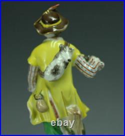 KPM Porcelain Figurine of Gentleman in Yellow Coat Handpainted c1900s
