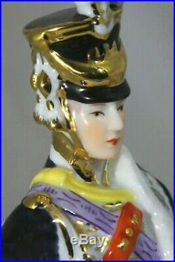 KPM Porcelain Figurine of Napoleon Marshall Junot Vintage German Made