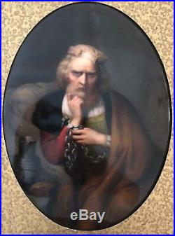 KPM Porcelain Hand Painted Plaque of Christopher Columbus after Gustave Wappes
