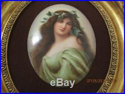 KPM Porcelain Plaque, Artist Signed Wagner, Hand Painted, Museum Quality