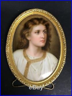KPM Porcelain Plaque Of Young Jesus