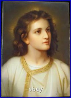 KPM Porcelain Portrait Plaque Hand Painted Boy Jesus R. Dietrich after Hofmann