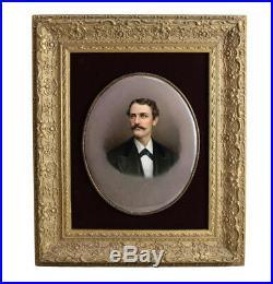 KPM Portrait Porcelain Plaque of a Gentleman, Signed B. L. Steurin, Late 19th C