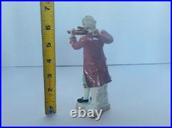 KPM Prussia Violin Victorian Lace Rococo Germany Antique Porcelain Figurine vtg