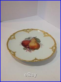 KPM Royal Berlin Porcelain Plate. Handpainted- Fruits, Pears. Antique Germany