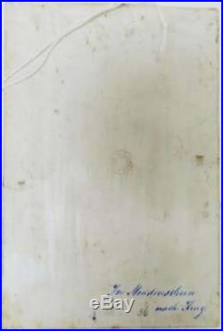 KPM Style Antique Hand Painted German Porcelain Plaque After Wilhelm Kray
