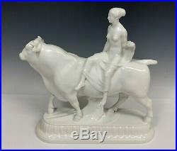 KPM White Porcelain Figurine Of Europa And The Bull