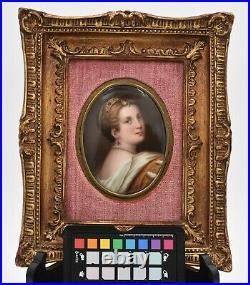 KPM framed painted porcelain plaque of Lucretia Borgia