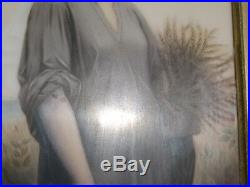 KPM or similar porcelain painting Ruth with wheat. Excellent