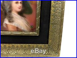 KPM style Signed Hutschenreuther Porcelain Painting, Duchess of Devonshire