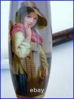 Kpm Antique Porcelain Pipe Fabulous Painting 19th ct