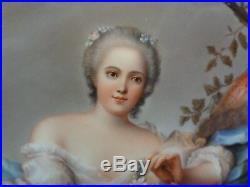 Kpm Berlin Porcelain Plaque Reclining Lady Kpm Plaque After Painting Nattier