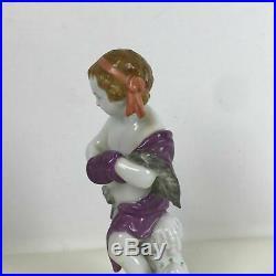 Kpm Porcelain Figurine of Putti Cherub Skating