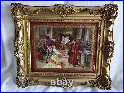 Kpm Porcelain Plaque Othello Rare Artist Signed Collectible Important