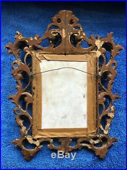 Kpm Signed Porcelain Painted Plaque-modonna & Cherubs-florentine Rococo Frame