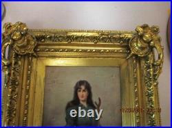 LARGE, Museum Quality KPM Hand Painted Porcelain Plaque, Signed, Excellent