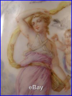 LG 19 c Sevres French Bronze H-PAINTED Porcelain Portrait KPM Urn Vase Gilt Lamp
