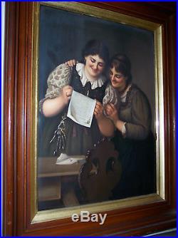 LG RARE BEAUTIFUL 19th CENTURY ANTIQUE KPM PORCELAIN PLAQUE
