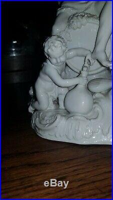 Large Antique Kpm Berlin Porcelain Group Figurine