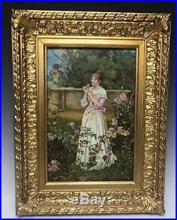 Large Kpm Style Porcelain Plaque Circa 1900
