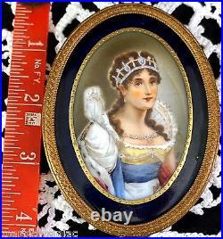 Lovely Old Oval Porcelain Portrait Plaque Josephine wife of Napoleon KPM Quality