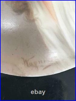 Magnificent Hutchenreuther Kpm Porcelain Plaque Signed Wagner Framed