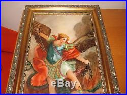 Marked KPM Hand Painted Porcelain Plaque Painting 6.5 x 12.5