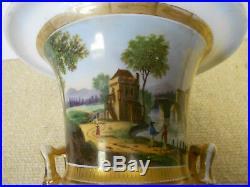 Meissen KPM Antique Neoclassical Style Porcelain Vase Hand Painted Bacchus Faces