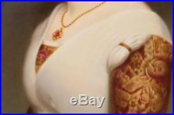 Monumental Antique Kpm Porcelain Portrait Plaque