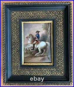 Museum Quality Antique 19th C KPM Porcelain Plaque Image of Tsar Peter the Great