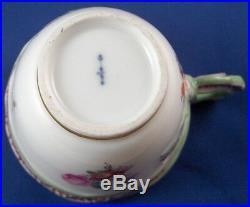Nice Antique 18thC KPM Berlin Porcelain Trembleuse Cup & Saucer Porzellan Tasse