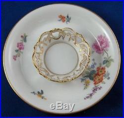 Nice Antique 19thC KPM Berlin Porcelain Trembleuse Cup & Saucer Porzellan Tasse