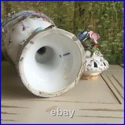 OLD Early KPM Hand Painted Porcelain ORNATE Urn Vase