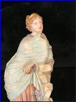 Old Selt. Porcelain KPM Berlin Woman from The Antique Soft Painting 1880-1900