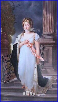 PHENOMINAL Antique Large Signed German KPM Porcelain Plaque Queen Louise 13 X 8